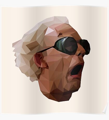 Doc Brown - Back to the Future | Christopher Lloyd Low Poly Poster