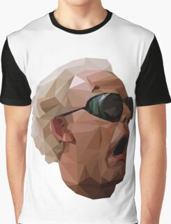 Doc Brown - Back to the Future | Christopher Lloyd Low Poly Graphic T-Shirt