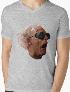 Doc Brown - Back to the Future | Christopher Lloyd Low Poly Mens V-Neck T-Shirt