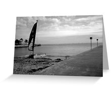 """Sailboat on Beach""  Greeting Card"