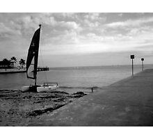 """Sailboat on Beach""  Photographic Print"