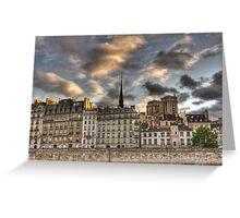 Seine Architecture Greeting Card