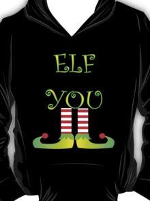 Cute Funny Christmas Elf Legs Elf You T-Shirt