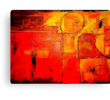 """""""Orange Abstract"""" by Chip Fatula Canvas Print"""