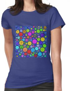 #DeepDream Color Circles Visual Areas 5x5K v1448629304 Womens Fitted T-Shirt