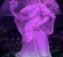 """Purple Statue 11"" by Chip Fatula by njchip123"