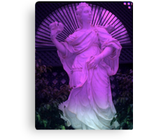 """Purple Statue 11"" by Chip Fatula Canvas Print"