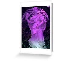 """Purple Statue 11""  Greeting Card"