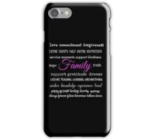 Family - Typographical Design iPhone Case/Skin