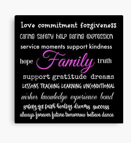 Family - Typographical Design Canvas Print