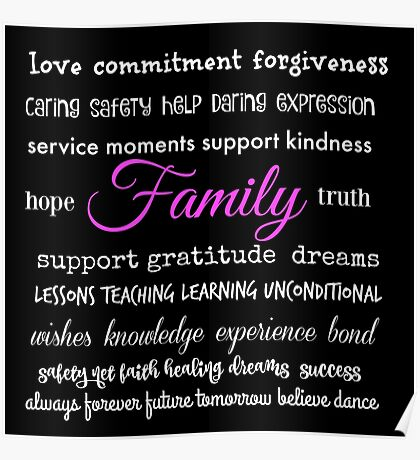 Family - Typographical Design Poster