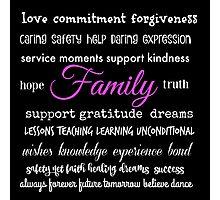Family - Typographical Design Photographic Print