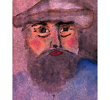 Camille Pissarro a self portrait, in my version, watercolor by Anna  Lewis