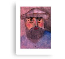 Camille Pissarro a self portrait, in my version, watercolor Canvas Print