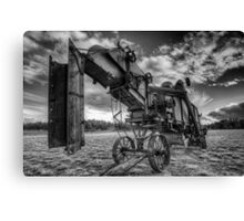 Thresher in Black and White Canvas Print