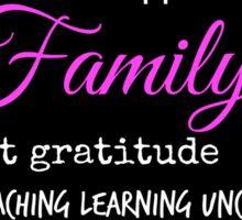 Family - Typographical Design Sticker
