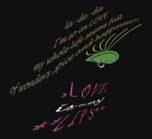 LOVE is on my LIPS- Type TEE=20 by James Lewis Hamilton