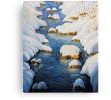 Snowy Fairytale River Canvas Print