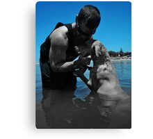 dogs best friend Canvas Print