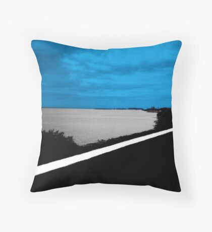 """""""Key West Road""""  Throw Pillow"""