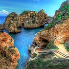 Grottos at Ponta Piedade by manateevoyager