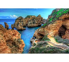 Grottos at Ponta Piedade Photographic Print