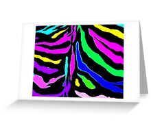 """Digital Zebra Multicolor"" by Chip Fatula Greeting Card"