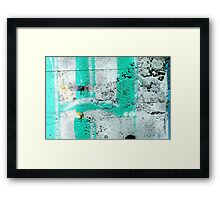 Green Stripe Framed Print
