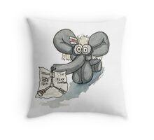 Doc Elephant Brown Throw Pillow