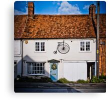 Penny Farthing Cottage Canvas Print
