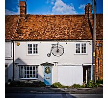 Penny Farthing Cottage Photographic Print