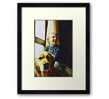 Blue and Tommy Framed Print