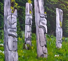 Totems - Michael Dyer by Rachelle Dyer