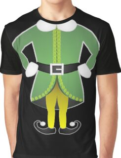 cute cartoon christmas santa's helper elf costume Graphic T-Shirt