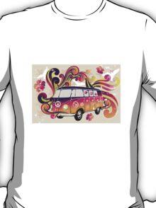 Colorful VW-Bulli Illustration T-Shirt