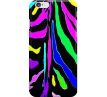 """Digital Zebra Multicolor"" by Chip Fatula iPhone Case/Skin"