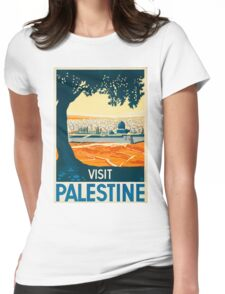 Vintage poster - Palestine Womens Fitted T-Shirt
