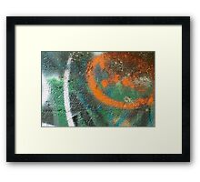 Orange Disc Framed Print