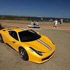 Yellow Ferrari 458 Italia by celsydney