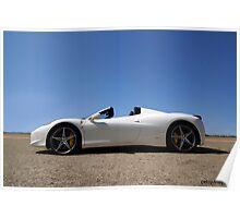White Ferrari 458 Spider Poster