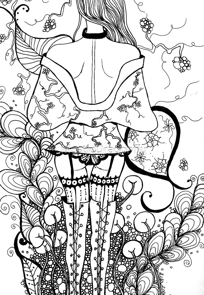 Blossom Zentangle by MysticDragonfly