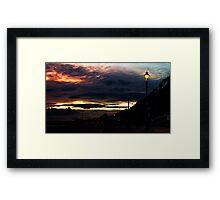 Bournemouth Beach Sunset Framed Print