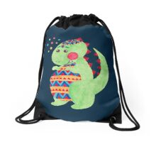 Egg Dino Drawstring Bag