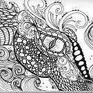 Dragon Zentangle by MysticDragonfly