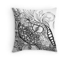 Dragon Zentangle Throw Pillow