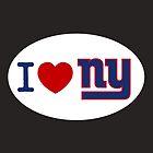 I LOVE NY (Giants) Euro Sticker by cpinteractive