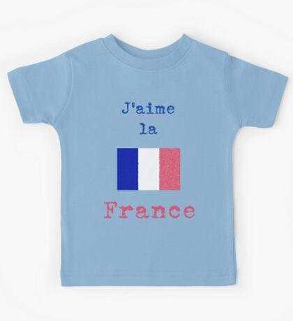 I Love France Vintage Style Kids Tee