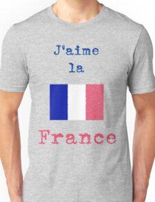 I Love France Vintage Style Unisex T-Shirt