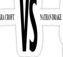 Lara Croft vs. Nathan Drake Sticker
