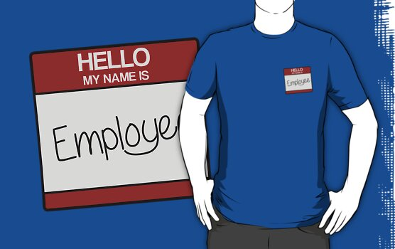 hello my name is EMPLOYEE by Micksergeant